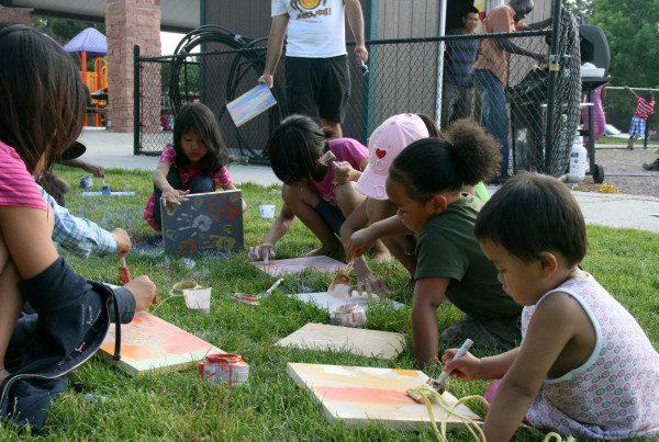 14 - Spencer Garrett - kids painting tiles