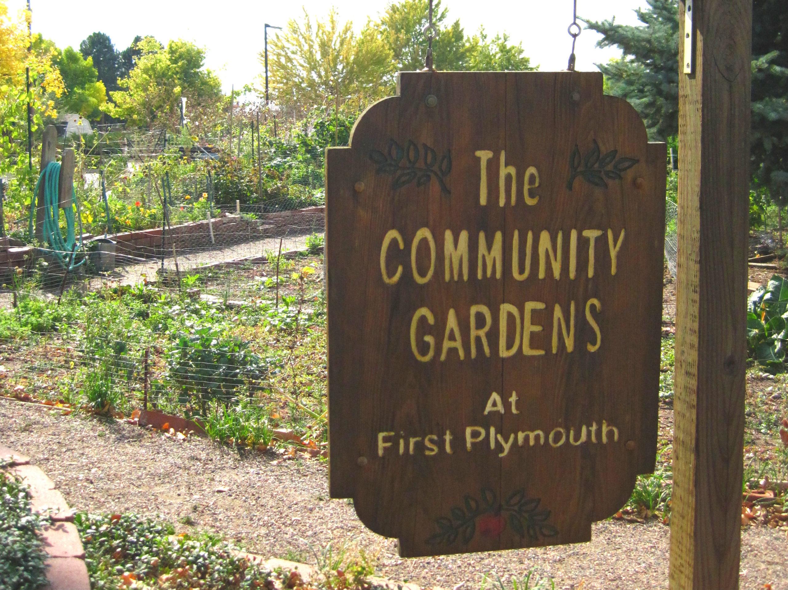2014 - First Plymouth - Garden Sign - Denver Urban Gardens